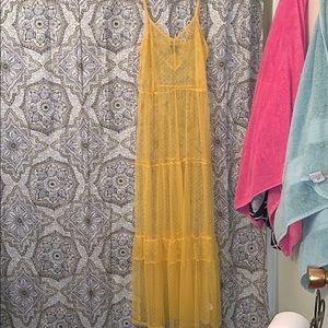 wild fable Dresses - Yellow sheer dress